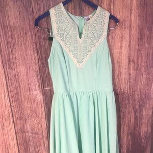 Ayla Pastel, Mint Green Summer Dress